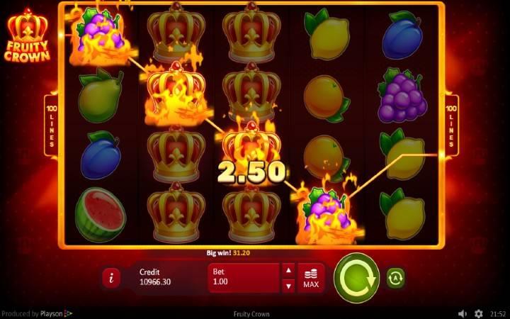 Džokeri, Online Casino Bonus, Playson, Fruity Crown