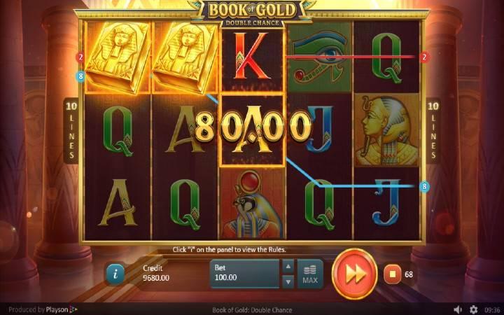 Džoker, Online Casino Bonus, Book of Gold: Double Chance