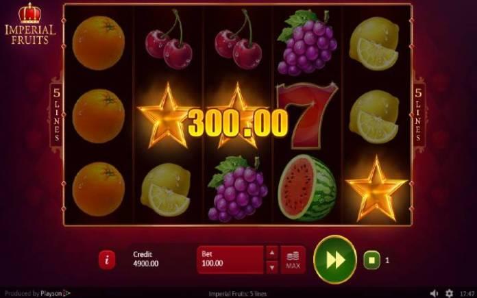 Zlatna Zvezda, Scatter, Online Casino Bonus, Imperial Fruits: 5 lines