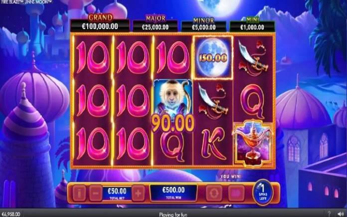 Besplatni Spinovi, Online Casino Bonus, Fire Blaze Jinns Moon
