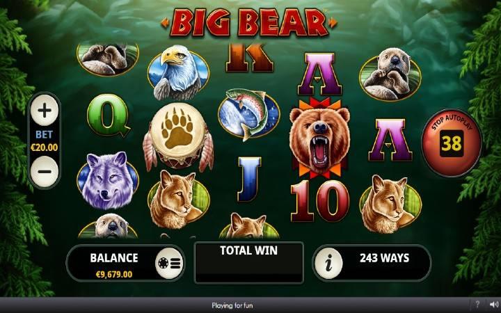 Big Bear, Playtech, Online Casino Bonus