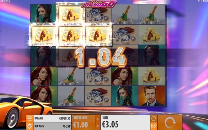 Super Respin, Online Casino Bonus, Wild Chase: Tokyo Go