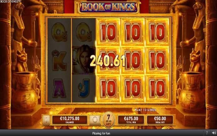 Specijalan simbol, Online Casino Bonus, Book of Kings