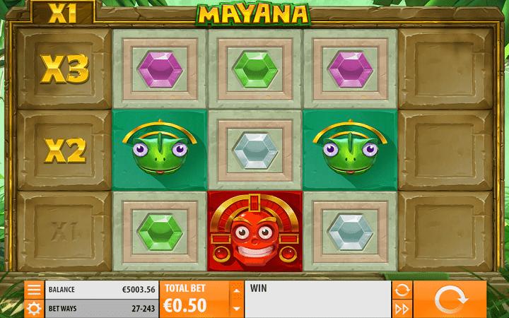 Mayana, 243 dobitne kombinacije