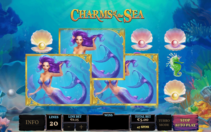 Charms of the Sea, Playtech, Online Casino Bonus