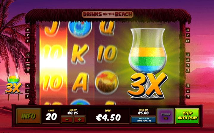 Drinks on the Beach, Playtech, Online Casino Bonus