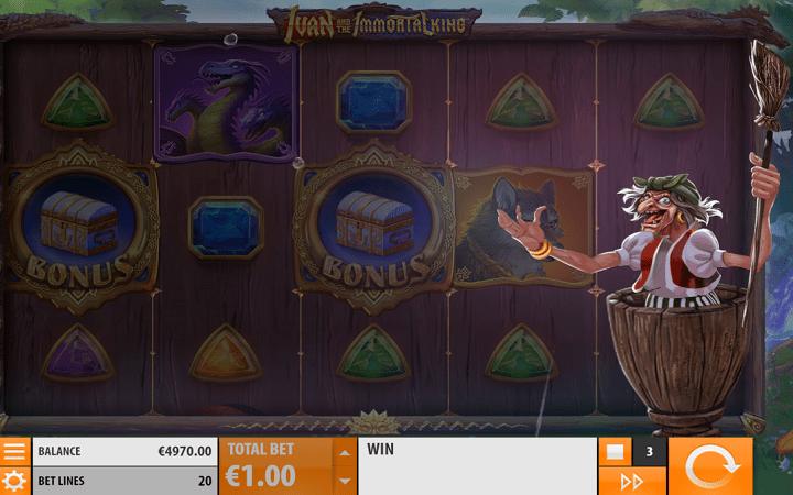 Ivan and the Immortal King, Quickspin, Playtech, Online Casino Bonus