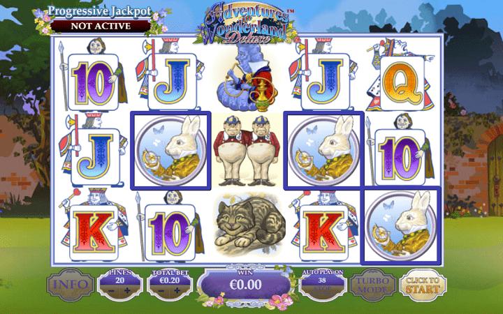 Adventures in Wonderland Deluxe, Playtech, Online Casino Bonus