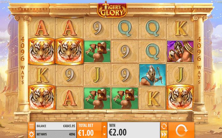 Tiger's Glory, Quickspin, Playtech, Online Casino Bonus