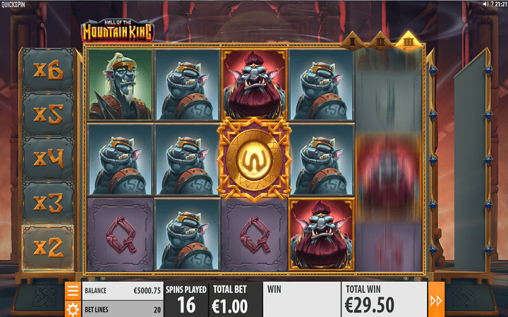 Hall of the Mountain King, Quickspin, Playtech, Online Casino Bonus