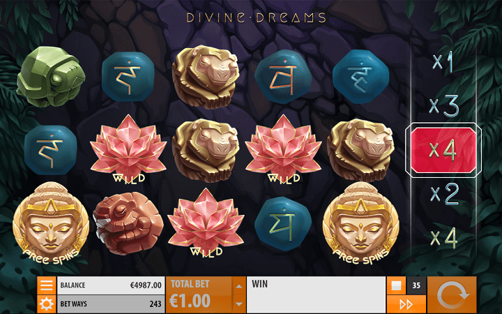 Divine Dreams, Quickspin, Playtech, Online Casino Bonus