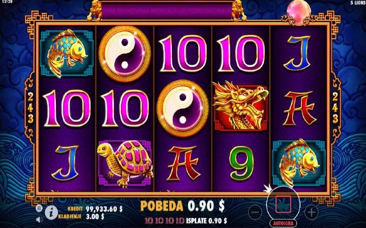 5 Lions, Online Casino Bonus