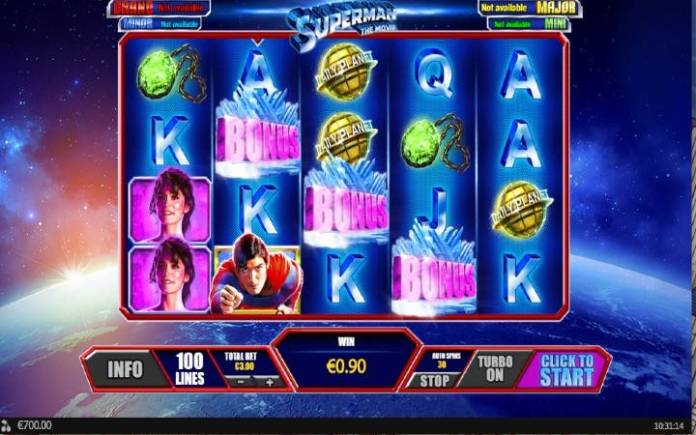 Crystal Bonus, Online Casino Bonus, Kockanje, Superman