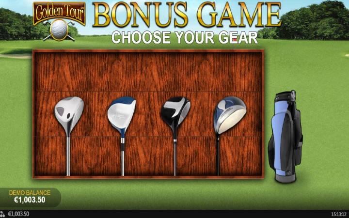 Štapovi za Golf, Bonus igra, Playtech,