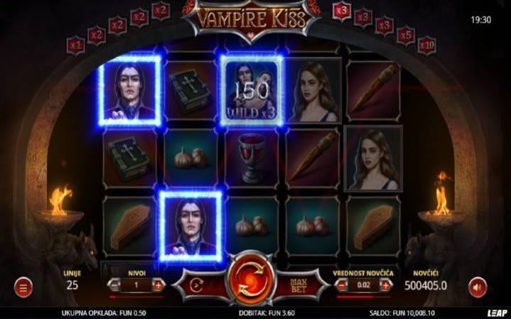 Vampire Kiss, Online Casino Bonus, Džokeri
