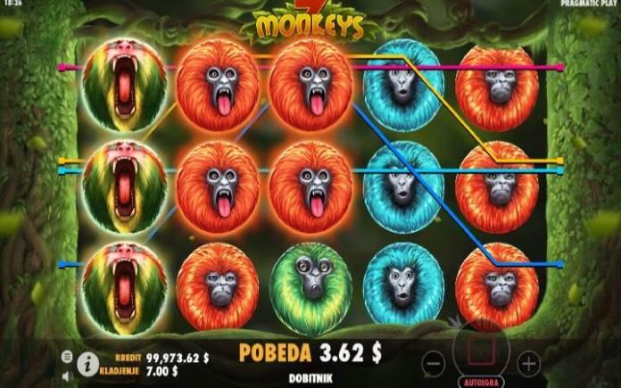 Džoker, Online Casino Bonus, 7 Monkeys