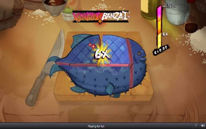 Tasty Fish Bonus, Kanpai Banzai, Online Casino Bonus