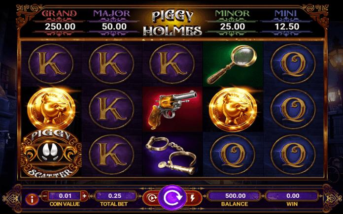 Piggy Holmes, GameArt, Online Casino Bonus