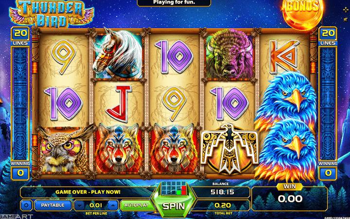 Thunder Bird, GameArt, Online Casino Bonus
