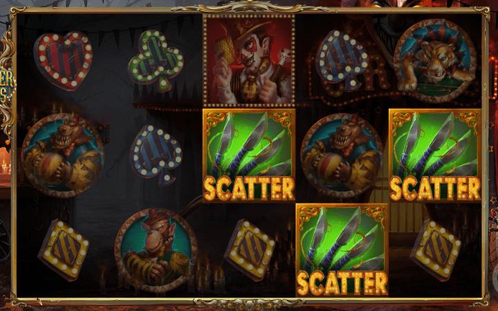 Sinister Circus, 1x2 Gaming, Online Casino Bonus