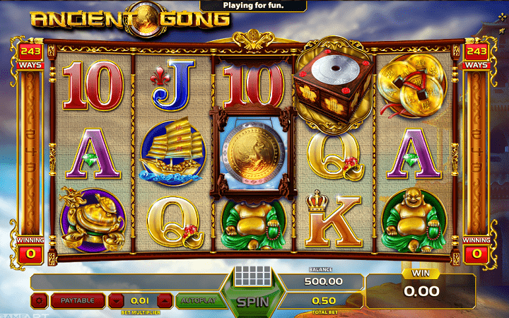 Ancient Gong, GameArt, Online Casino Bonus