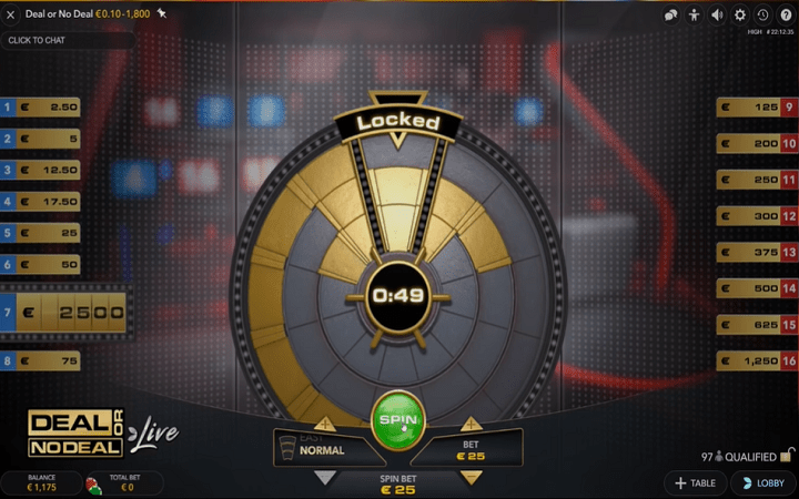 Deal or No Deal, Evolution Gaming, Online Casino Bonus