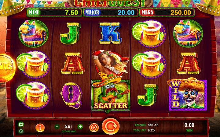 Chili Quest, GameArt, Online Casino Bonus