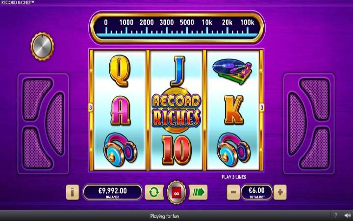 Record Riches, Online Casino Bonus