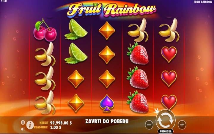 Fruit Rainbow, Online Casino Bonus