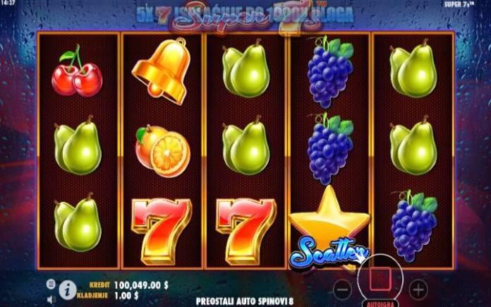 Super 7s, Online Casino Bonus