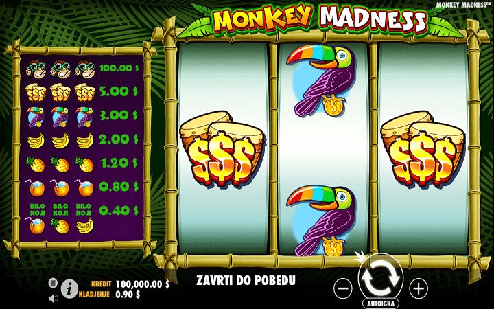 Monkey Madness, Pragmatic Play, Online Casino Bonus