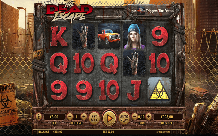 The Dead Escape, Habanero, Online Casino Bonus