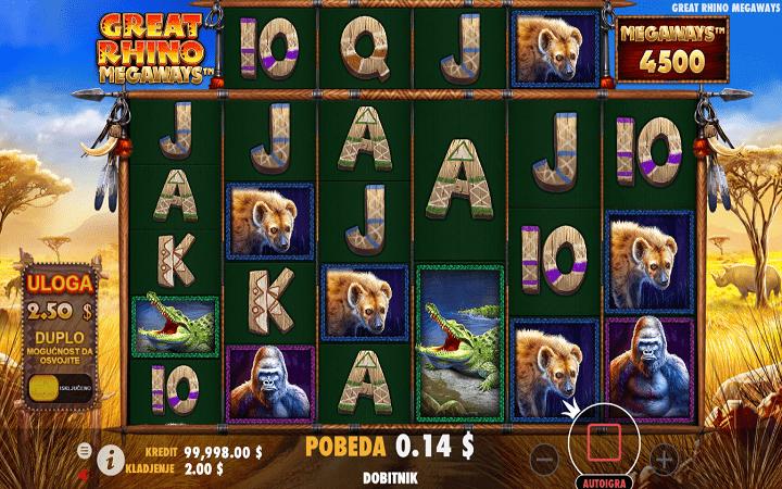 Great Rhino Megaways, Pragmatic Play, Online Casino Bonus