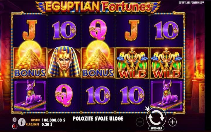 Bonus Casino, Slotovi egipatske tematike