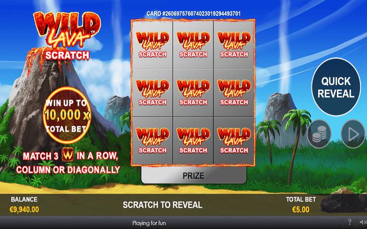 Wild Lava Scratch Card