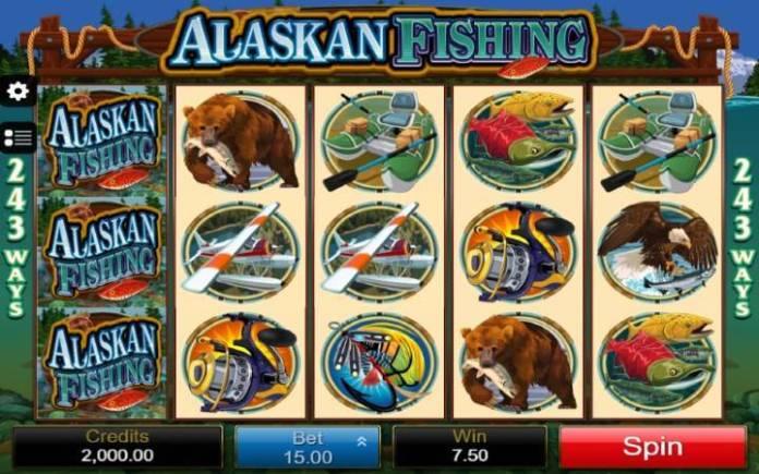 Osnovna igra-džoker-dobitna kombinacija sa džokerom-Alaskan Fishing