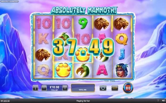 Absolutely Mammoth-osnovna igra-dobitna kombinacija sa džokerom