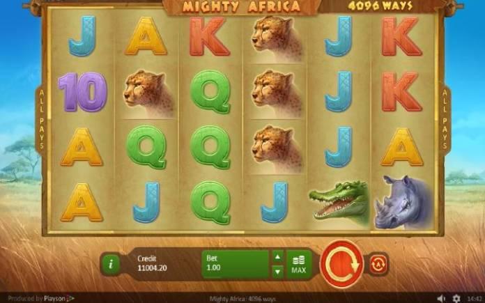 Mighty Africa-online casino bonus-osnovna igra-playson