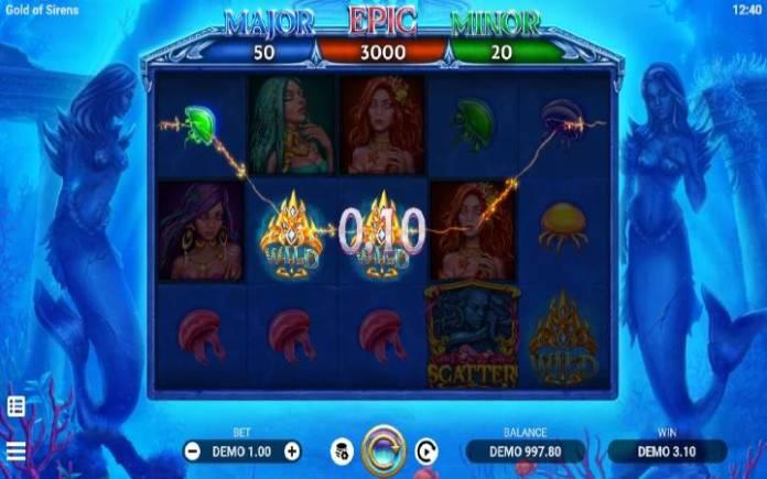 Džoker-gold of sirens-evoplay-online casino bonus