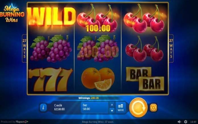 Džoker-Mega Burning Wins 27 Ways-online casino bonus