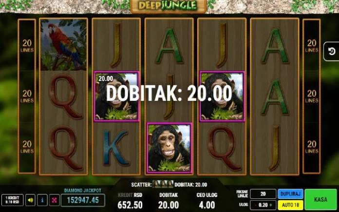 Scatter-dobitna kombimacija-Deep Jungle-online casino bonus