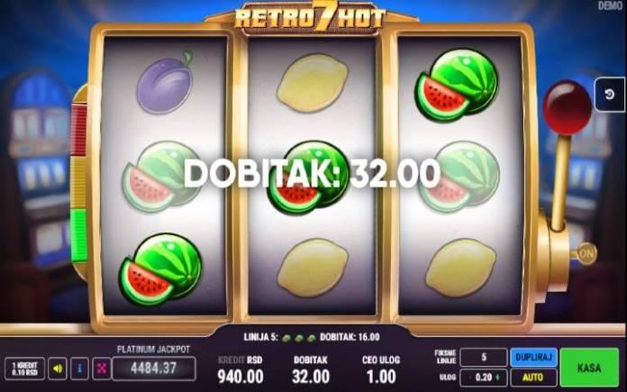 Retro hot 7-online casino bonus- dobitna kombinacija lubenica
