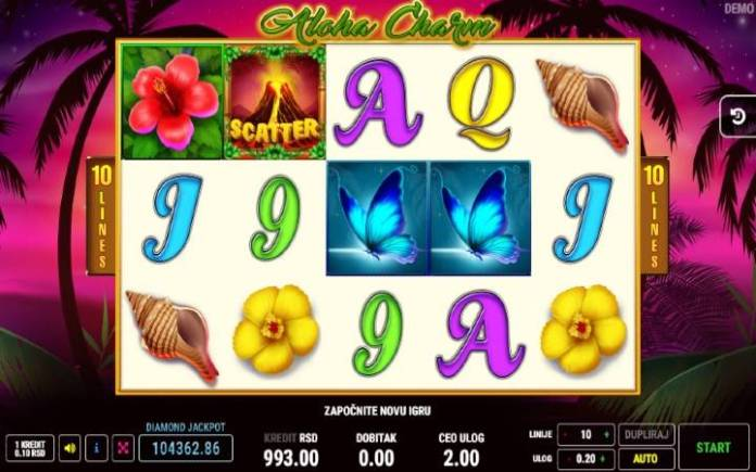 Aloha Charm-fazi-online casino bonus-osnovna igra