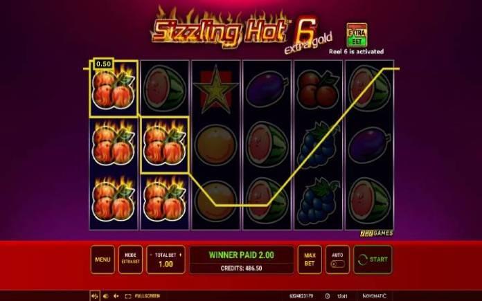 trešnja-sizzling hot 6 extra gold-online casino bonus-novomatic