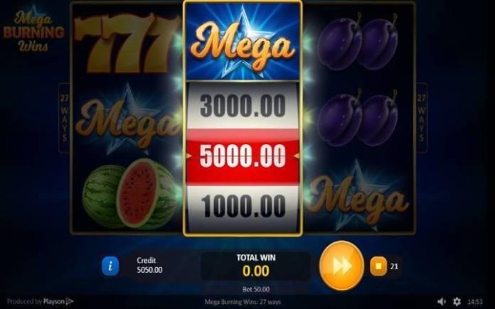 Točak sreće-mega burning wins 27 ways-online casino bonus