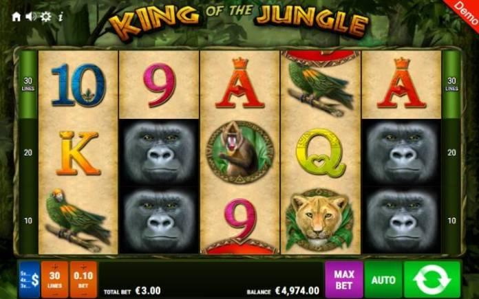 King of the Jungle-gamomat-online casino bonus