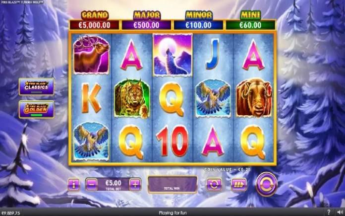 fire blaze golden tundra wolf-online casino bonus-playtech