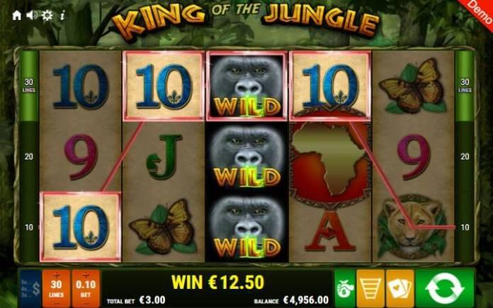 Džoker-gorila-online casino bonus-king of the jungle-gamomat