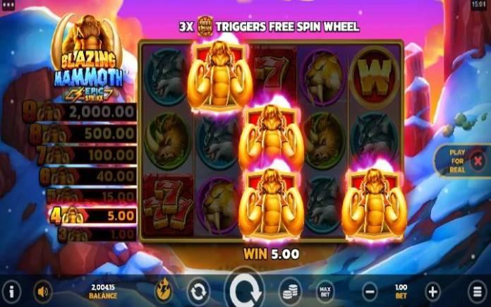 Džekpot-mamut-blazing mammoth-online casino bonus
