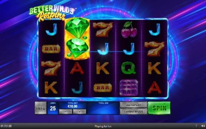 respin bonus-online casino bonus-better wilds-playtech